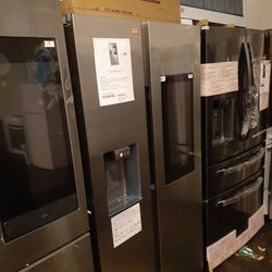 Brand New Samsung Side By Side Refrigerator With Tv Counter Depth  Thumbnail