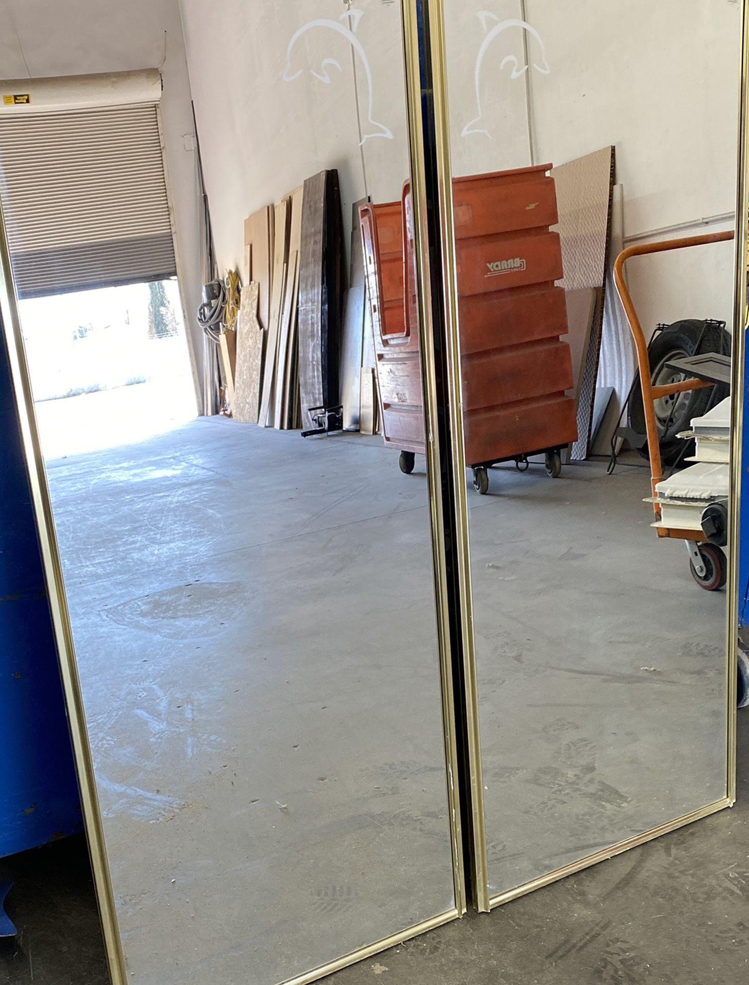 RV Dolphin Sliding Glass Mirror Closet doors