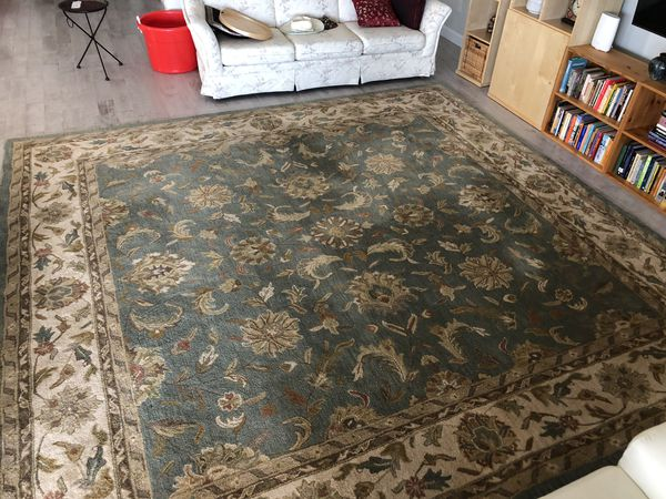 Large Area Rug Heavy Pile Does Not Need Rubber Mat For