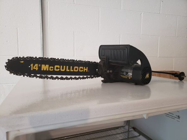 Electric 14 inch McCulloch chainsaw for Sale in North Wilkesboro, NC -  OfferUp