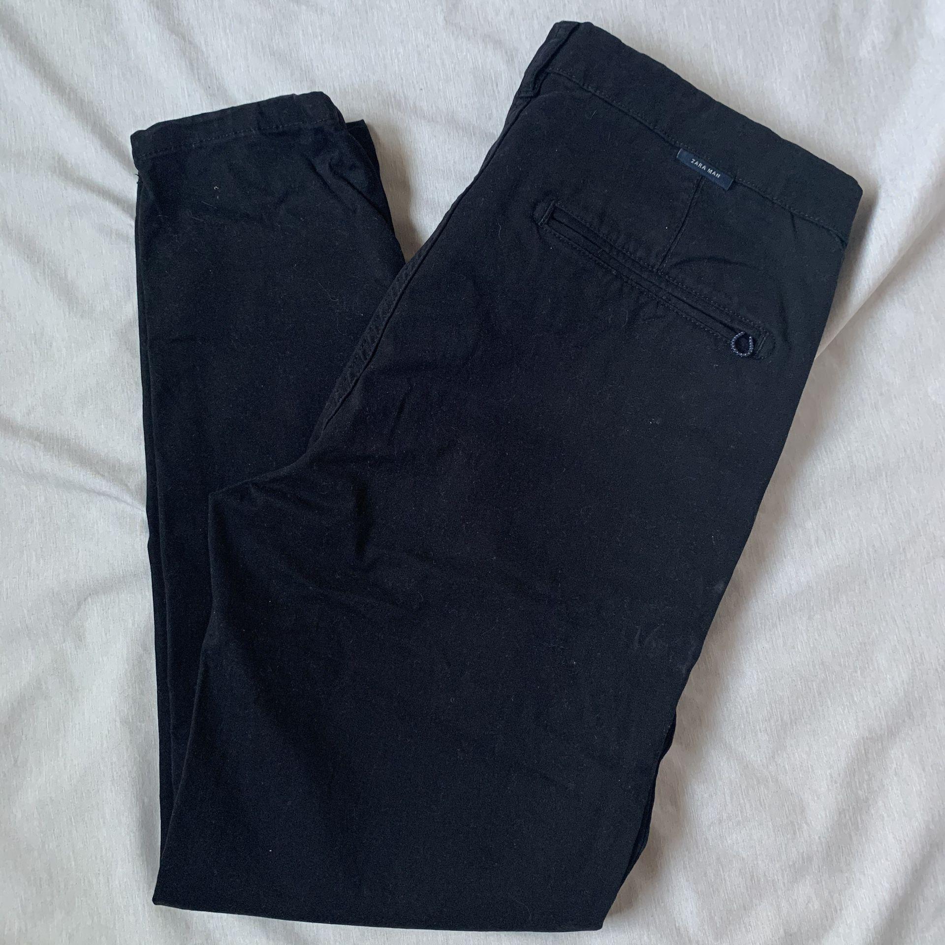 Zara Man Ankle chinos Black
