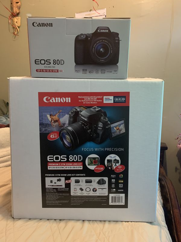 Canon EOS 80D DSLR camera with 2 lens for Sale in Los Angeles, CA - OfferUp