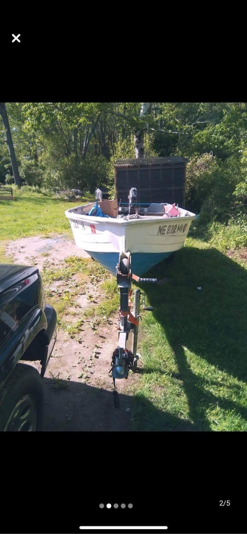Photo 15ft aluminum Starcraft boat with 9.5 evenrude sport win outboard