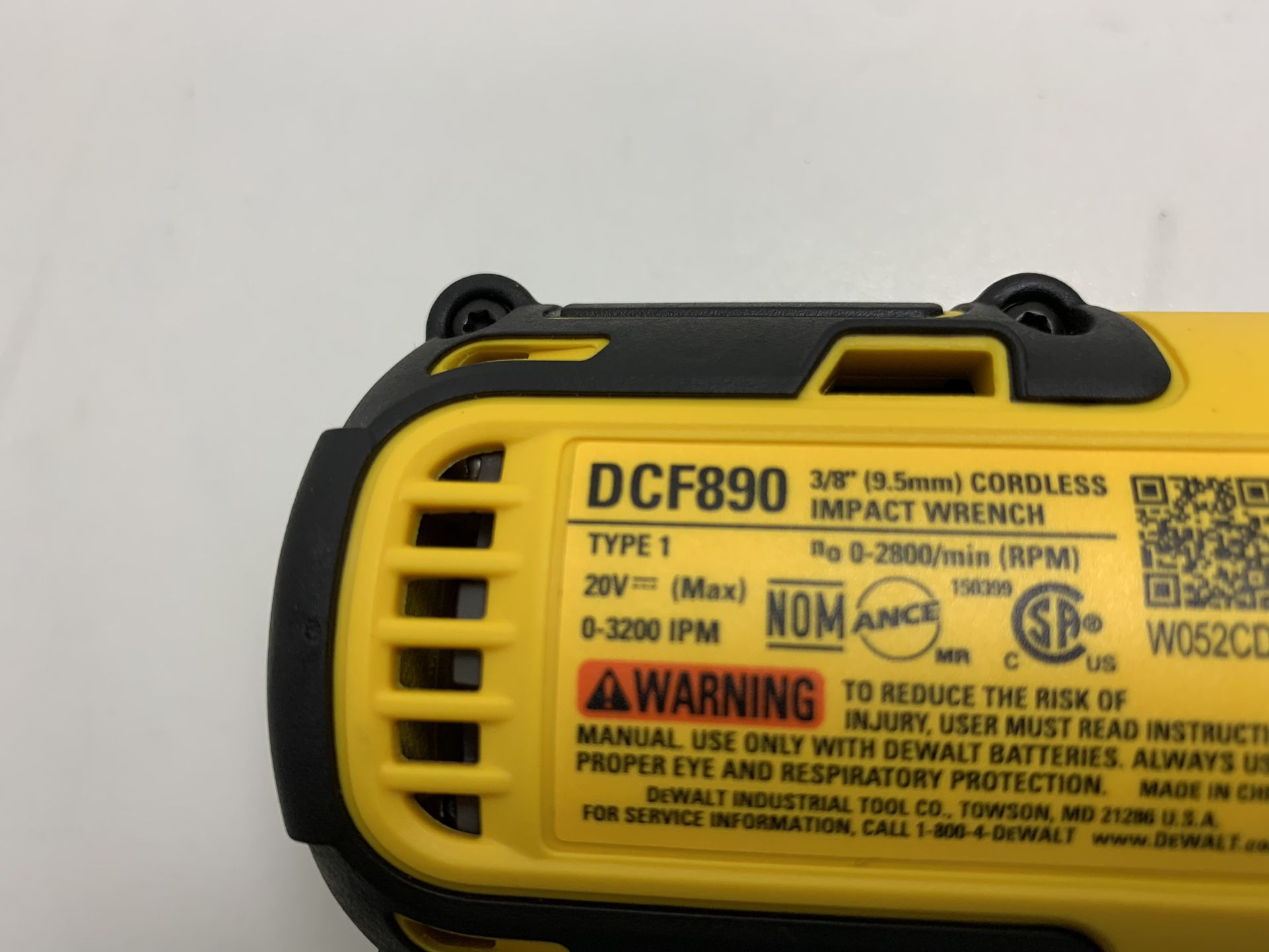 DEWALT DCF890 3/8 CORDLESS IMPACT WRENCH ONLY TOOL BRAND NEW SOLO HERRAMIENTA