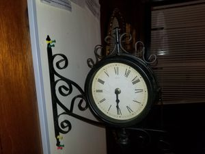Station Double Sided Clock(Battery Operated) for Sale in St. Louis, MO