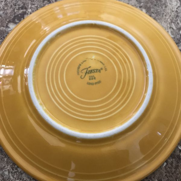 """Fiesta Marigold small 7.25"""" salad plate (2) Retired Color (Home ..."""