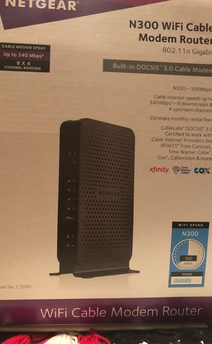 N300 WiFi cable modem router for Sale in McLean, VA