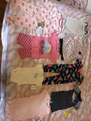 Baby girl clothes, some new some used, so clean for Sale in Sterling, VA