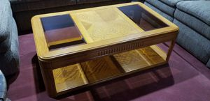 Wooden coffee table on wheels for Sale in Woodbine, MD
