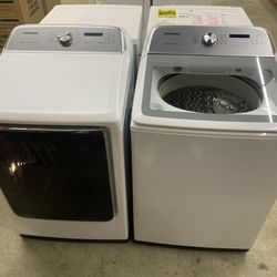 NEW XL Samsung Top Load Washer And Dryer! WE FINANCE, No Credit Checks! Thumbnail