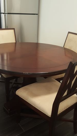 Round Wooden Dining Table Set with 4 Chairs for Sale in Washington, DC