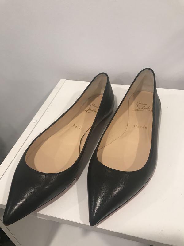 huge discount 1afe2 14933 Christian Louboutin Eloise Flat Black Leather for Sale in Little Falls, NJ  - OfferUp