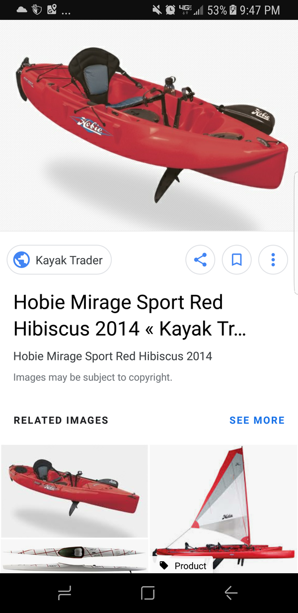 Hobie Hibiscus Red Mirage Sport 2014 for Sale in Valencia, CA - OfferUp