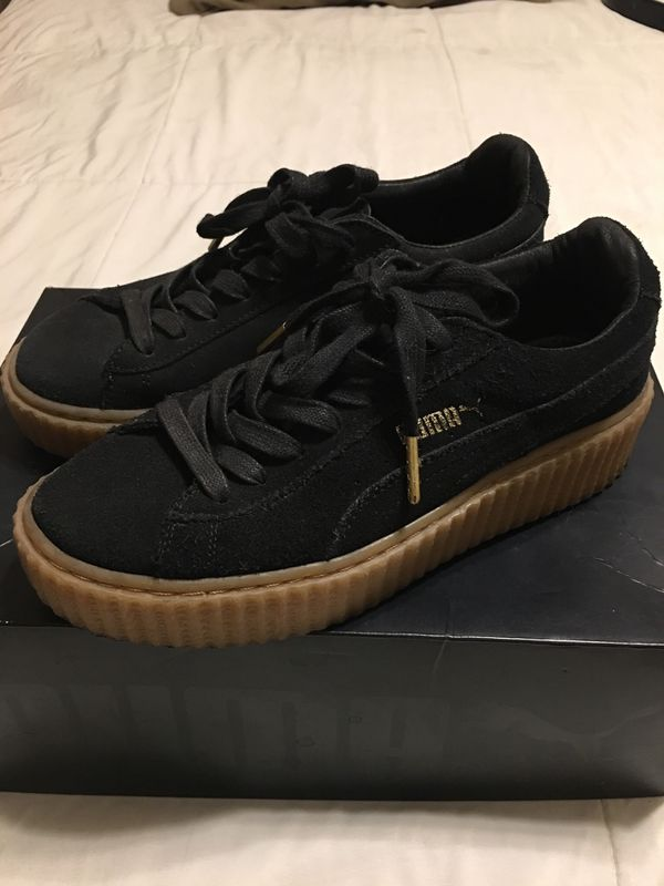 cheap for discount 59ea3 e458e Fenty X Puma by Rihanna black suede creepers for Sale in North Las Vegas,  NV - OfferUp