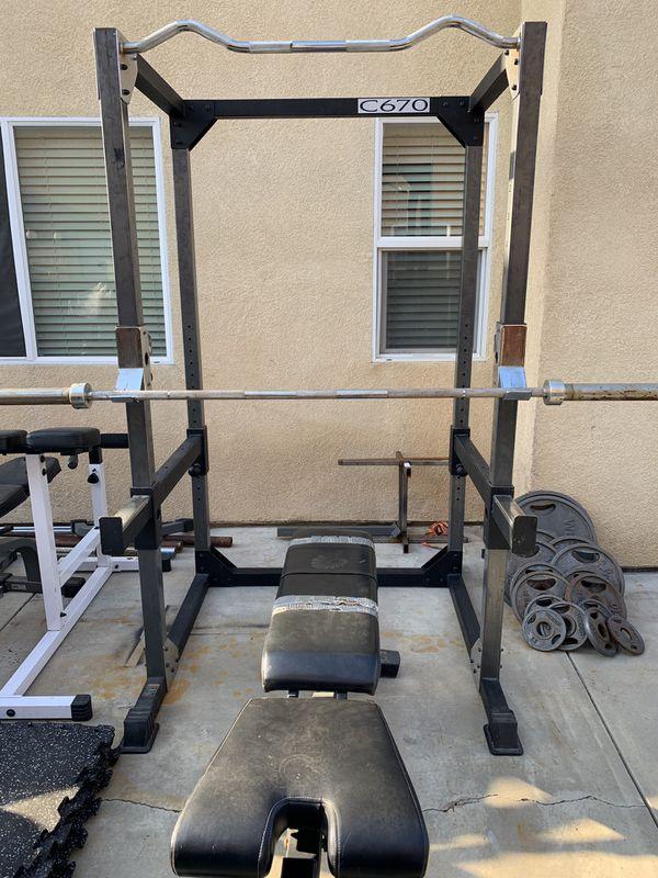 Weights Bench Bar Squat Rack For Sale In Hemet Ca Offerup