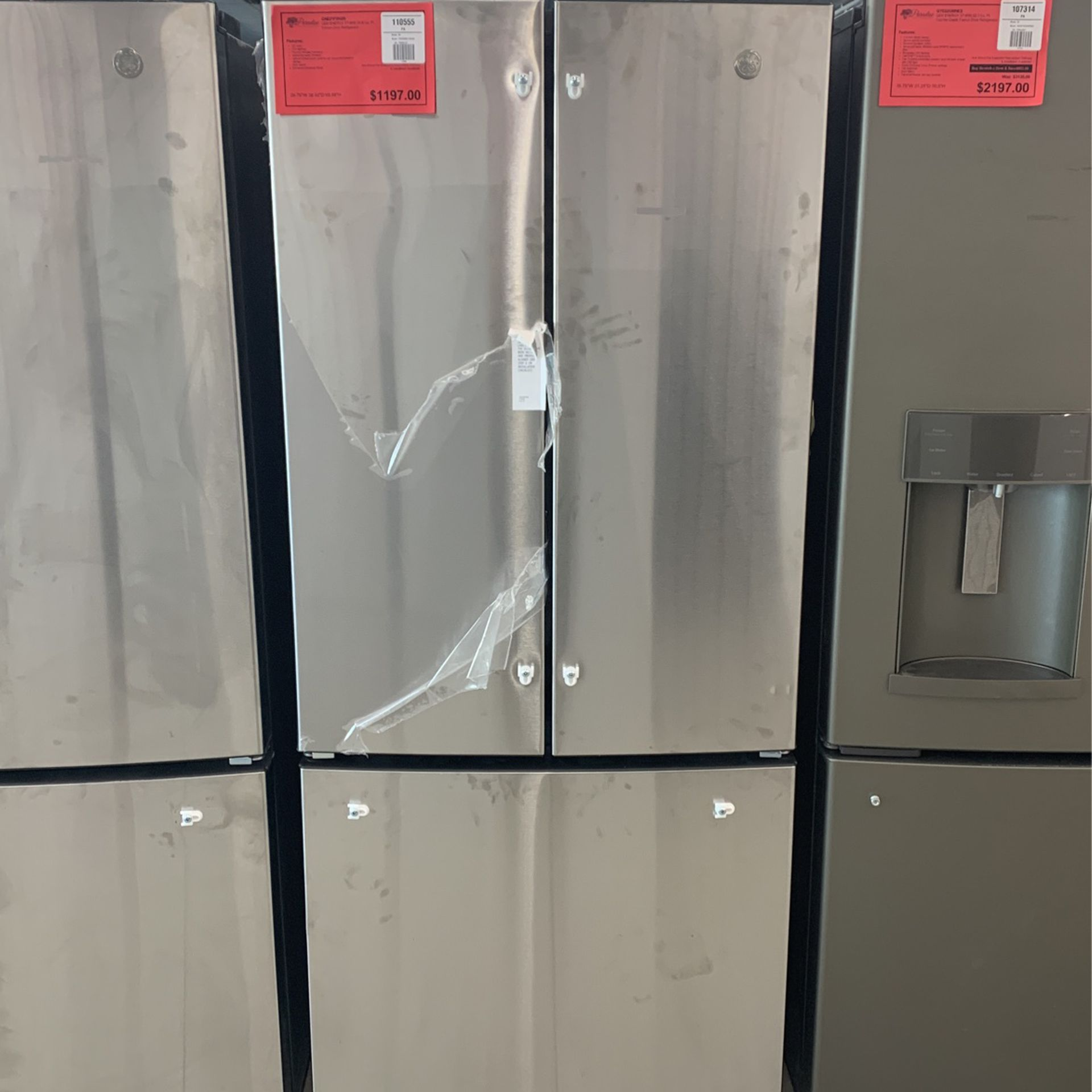 "New GE 30"" Stainless Steel Refrigerator!"