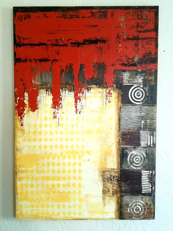 Wall Art Decor Abstract Acrylic Painting 24X36 (Arts & Crafts) in ...