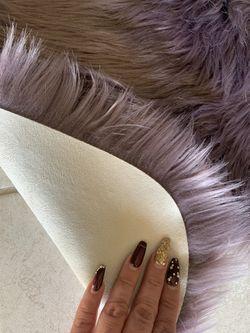 Light Fluffy Purple Accent Rug Thumbnail