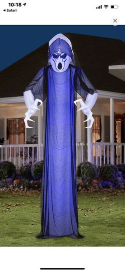 Airblown Lightshow Short Circuit Frightening Ghost Inflatable with Overlay Giant Thumbnail