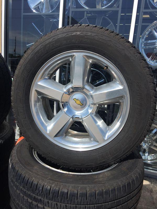 """20"""" used tahoe wheels with 2755520 bridgestone tires used (Auto ..."""