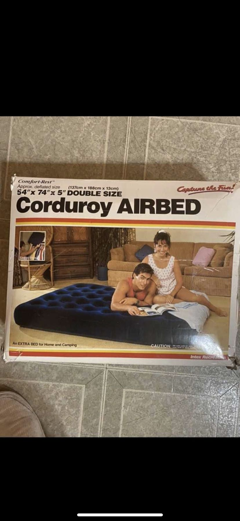 Intex Double Size Corduroy Airbed. Brand New