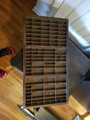 Vintage printer tray made into jewelry organizer for Sale in Alexandria, VA