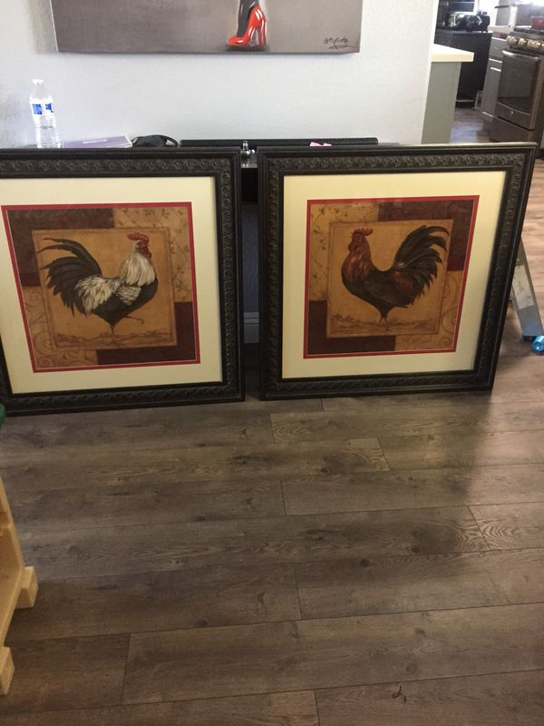 2 Rooster Picture Frames For Sale In Las Vegas Nv Offerup