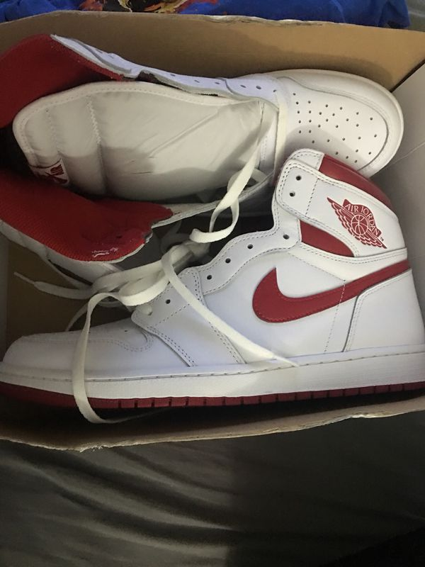 9ffbc0ddb63535 Air Jordan retro 1 white red brand new size 14 for Sale in Phoenix ...