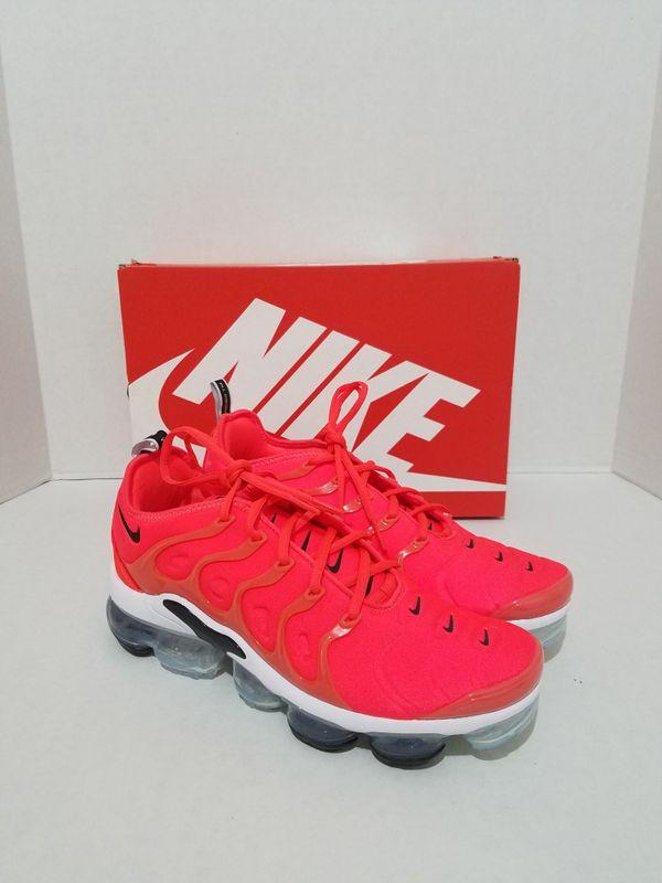100% Authentic Nike Air VaporMax Plus Bright Crimson 924453