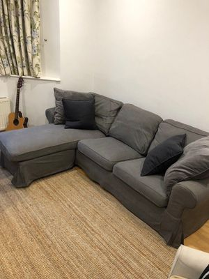 Ikea ektorp sofa sectional with chaise - WILL DELIVER for Sale in Alexandria, VA