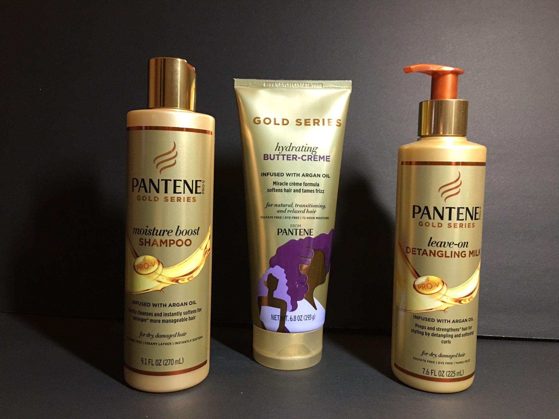 Lot of 3 Pantene Gold Series w/ Argan Oil