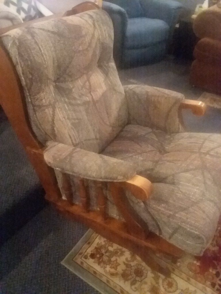 Rocking Chair Newly Redone. Real wood