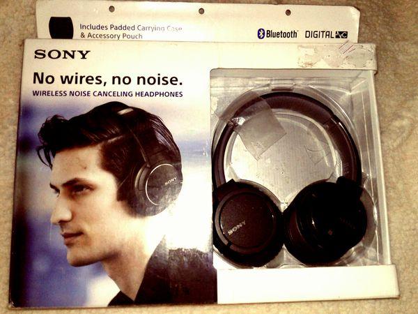 c85b0b16d6c Sony no wires, no noise headphones Wireless noise cancelling headphones