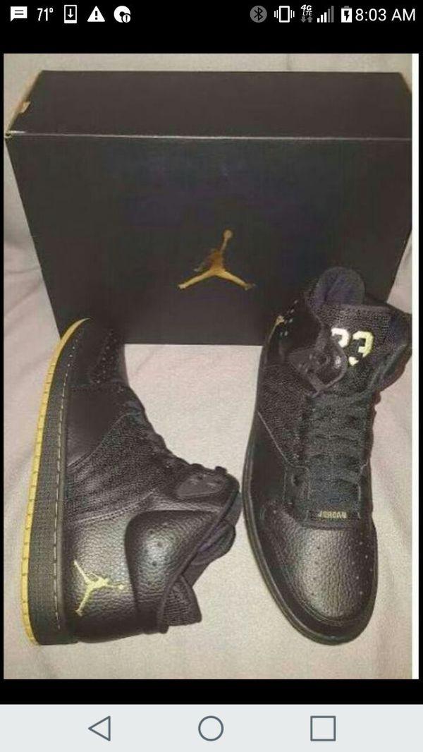Nike Air Jordan 1 Flight 4 Premium Black Gold 838818 070 Mens Shoes size 8 1 2  (Jewelry   Accessories) in Hialeah 2fb922e7a