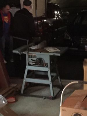 Photo 10 inch Table Saw on wheels like new never used heavy duty with original receipt n booklet