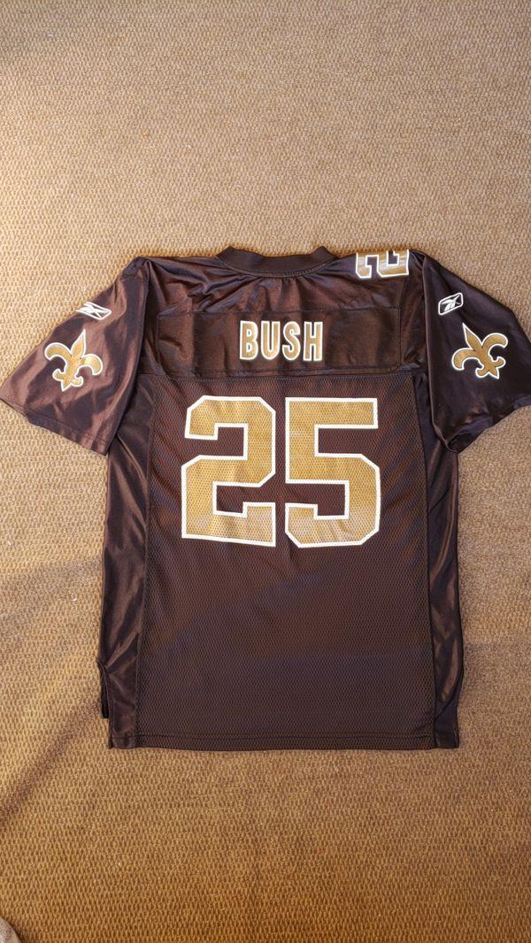 New Orleans The Saints Reggie Bush  25 Mens Size Medium Black Gold On Field Reebok  NFL Football Jersey for Sale in Las Vegas 7f348e9bf