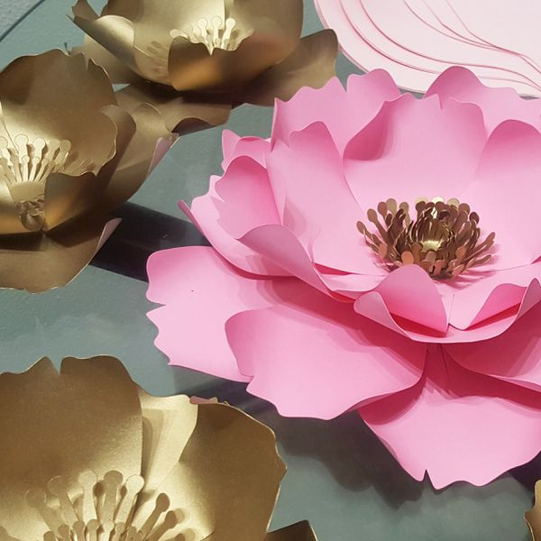 Paper Flowers Wall Backdrop Decorations Baby Shower Wedding For