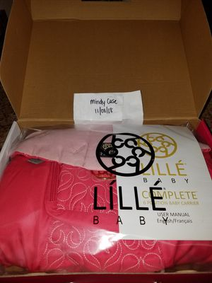 BRAND NEW IN BOX Lillebaby Embossed Luxe Baby Carrier Pink Ribbon for Sale in Lorton, VA
