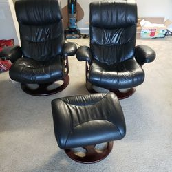 2 Recline Chairs, /office Chairs Thumbnail