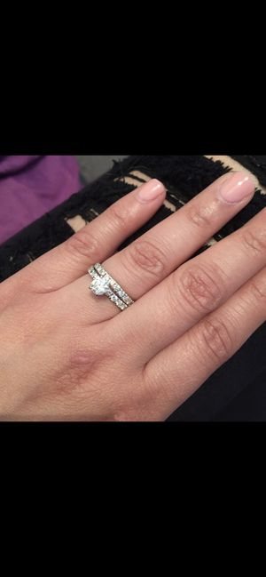 Certified diamond engagement ring and wedding band for Sale in Philadelphia, PA