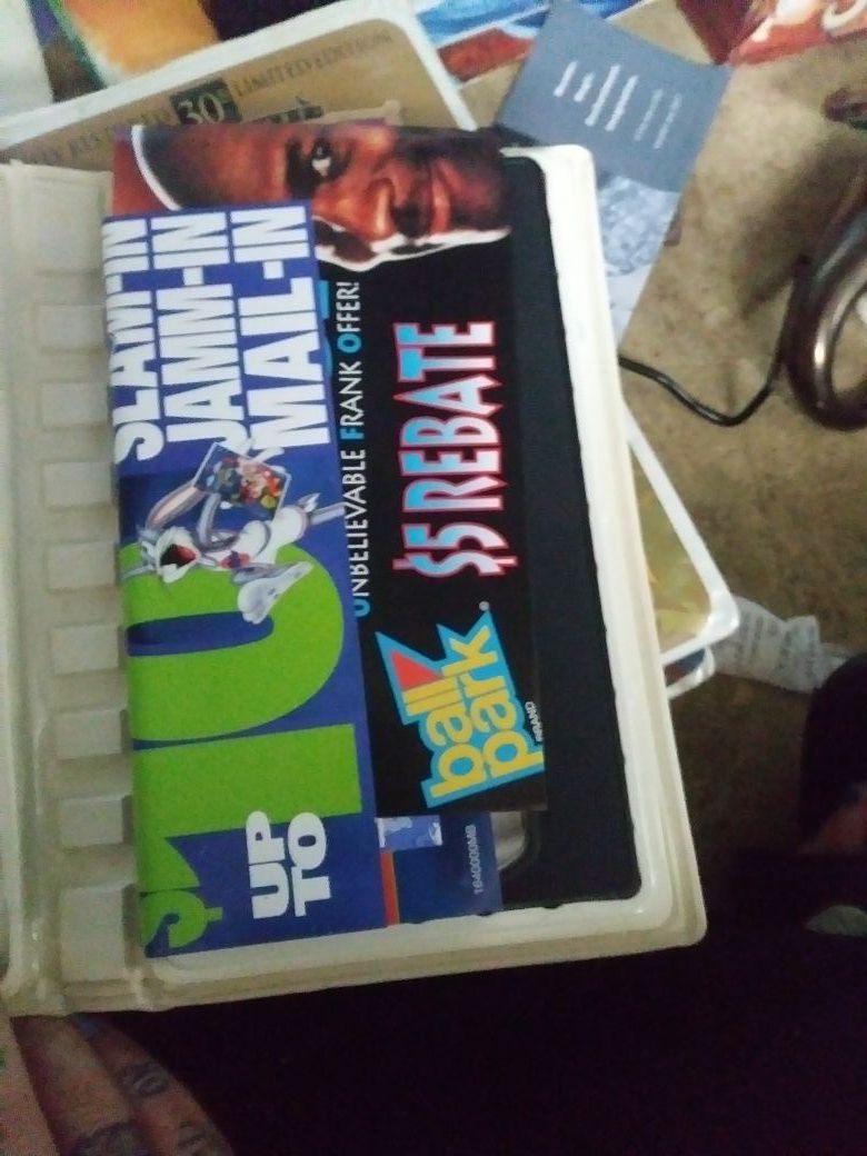 Space jam vhs with original papers