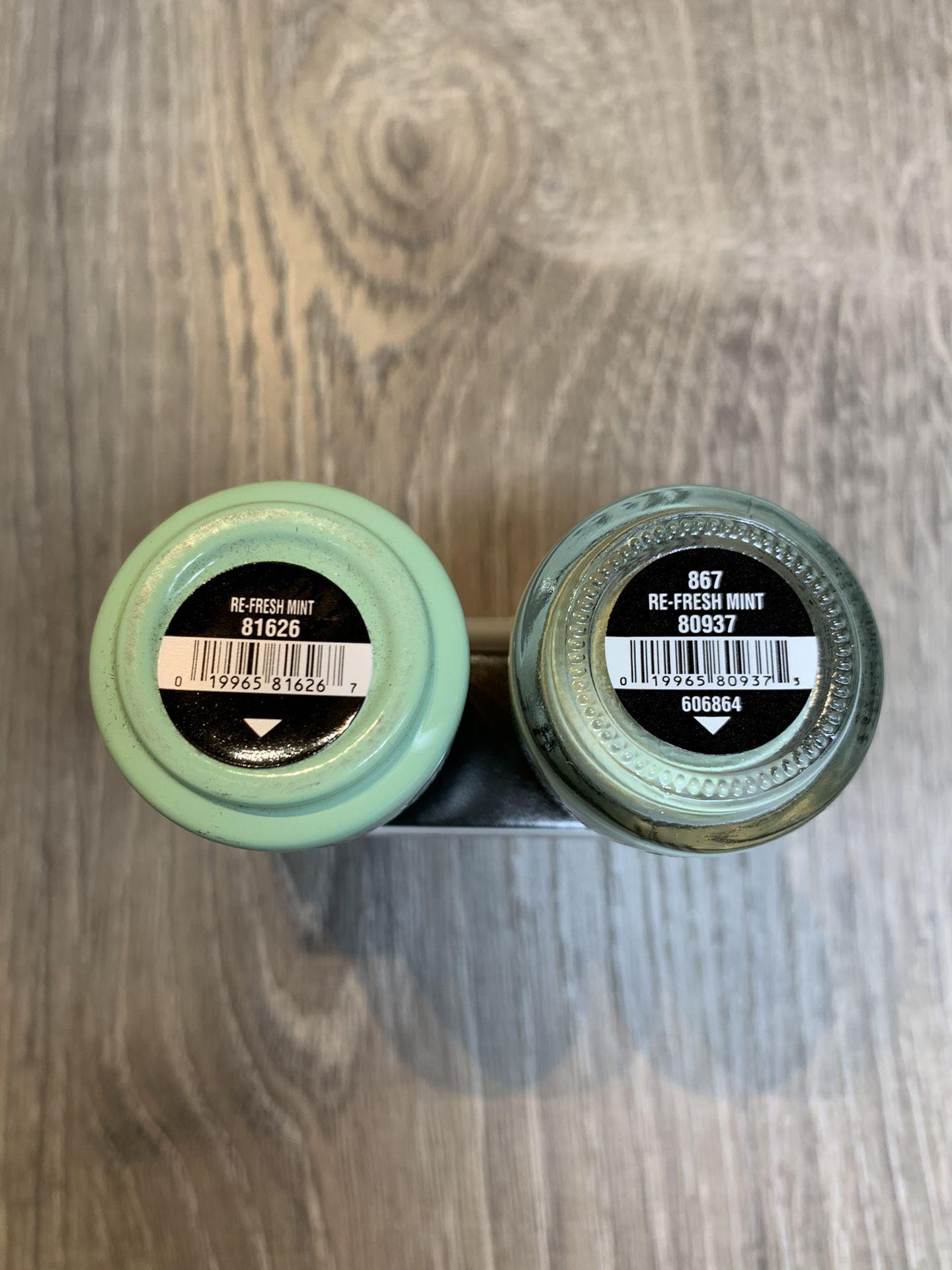"CHINA GLAZE - Duo Gelaze Gel Color + Nail Polish Lacquer ""Re-Fresh Mint"" 0.5 oz each"