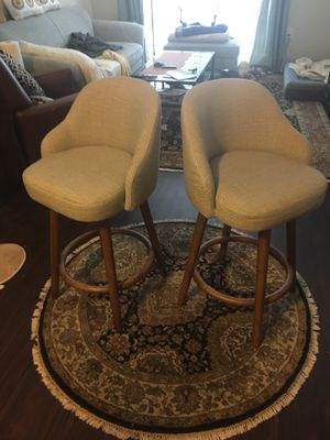 Counter Height Swivel, Upholstered Bar Stools West Elm Brand for Sale in Chantilly, VA