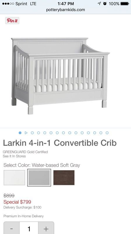 Pottery Barn Larkin Crib Assembly With Instructions For Sale In Covina
