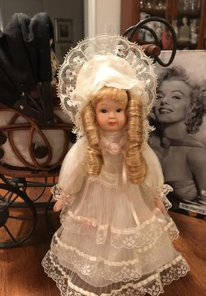 Pretty Little Porcelain Doll all dressed in Lace for Sale in Gainesville, VA