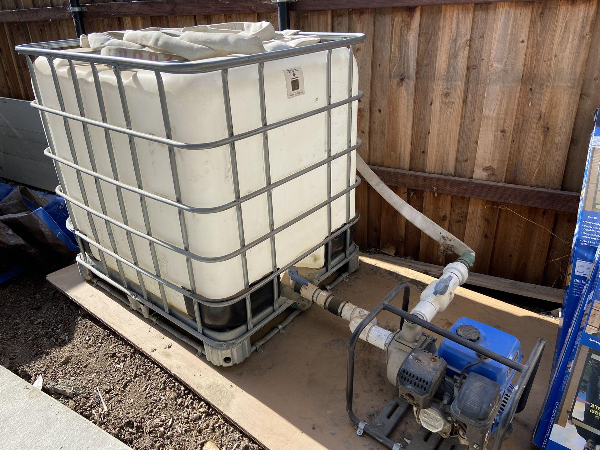 300 Gallon Water Tank