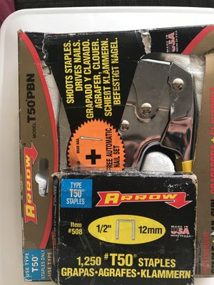 Arrow Professional Staple & Nail Gun with Staples Included for Sale in Kissimmee, FL