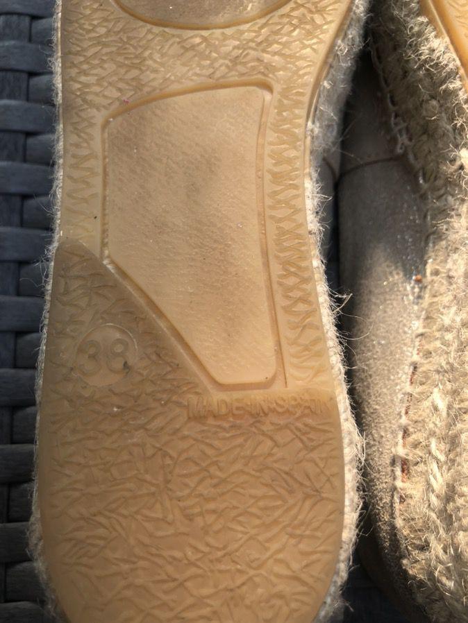Espadrille flatform leather shoes