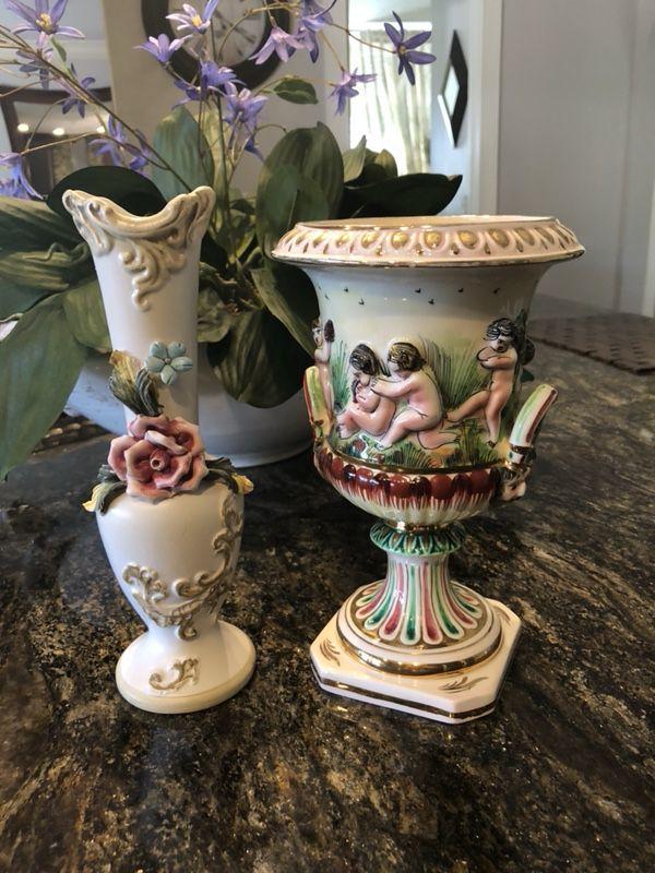 Capodimonte Vases Antique Vases Made In Italy Both Excellent