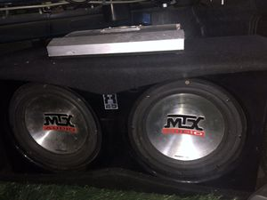 Photo 2 10 inch Subs W/ 2 way amp